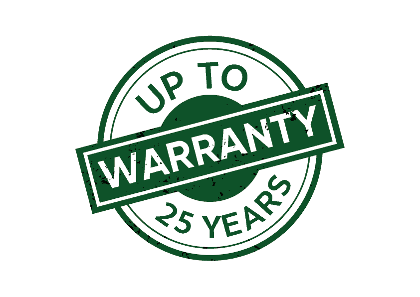 Up to 25 Years Warranty
