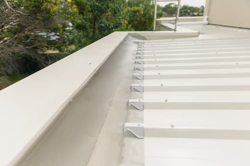 Gutter guard installation completed